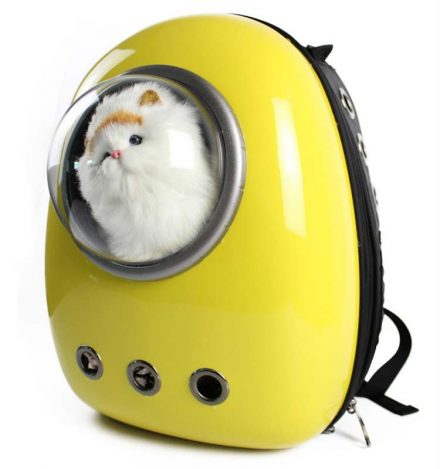 Mochila portamascotas cápsula espacial con burbuja